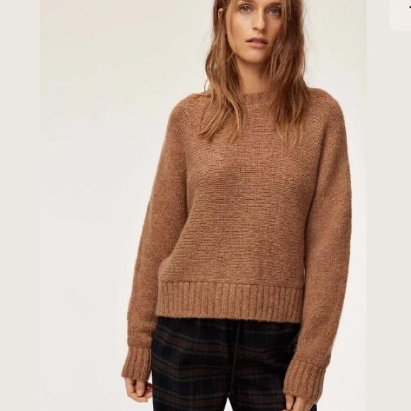 Aritzia Babaton Wool Batwing Day Off Sweater